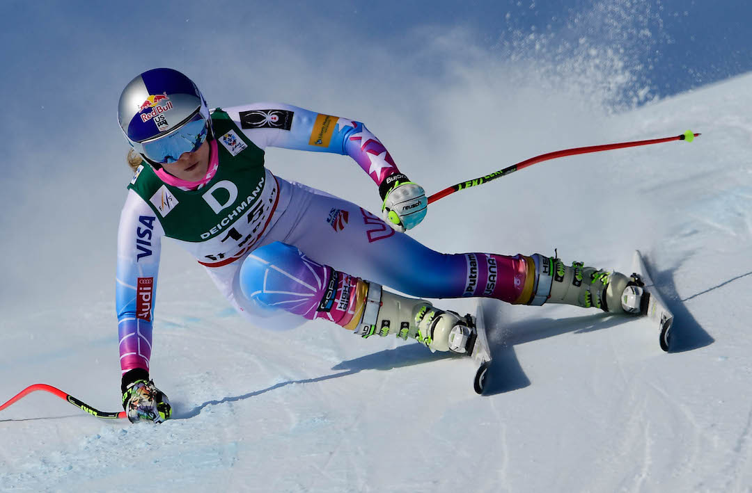 Lindsey Vonn performs during the FIS Alpine World Ski Championships 2017 in  Sankt Moritz c990817f9be